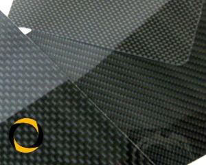 CFK-Hochglanzplatte Köper beidseitig Zuschnitt 2mm Stärke