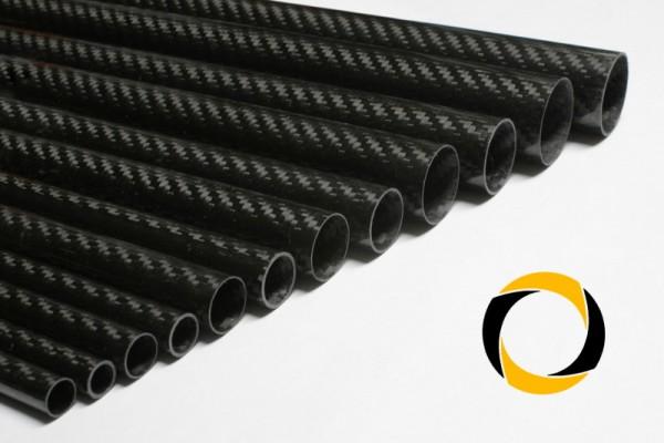 Carbon Rohr Eco glänzend 12x0,5x1000mm