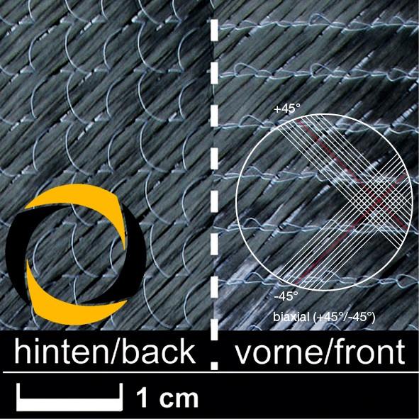 Kohlegelege 268 g/m² (biaxial) 127 cm