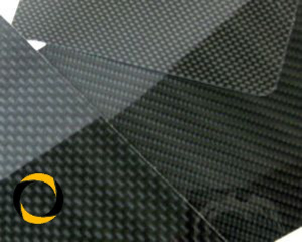 CFK-Hochglanzplatte 450 x 350 Köper