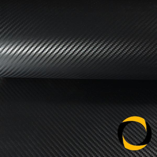 Carbonfolie (schwarz) mit Luftkanälen 152cm Breite, 1m